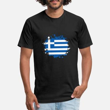 Greece Greece blob / gift Athens flag Greece Crete - Unisex Poly Cotton T-Shirt