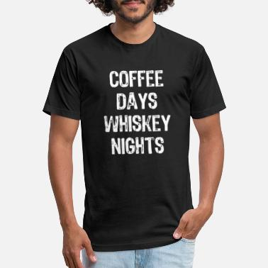 Nightspot Coffee - coffee days whiskey nights funny - Unisex Poly Cotton T-Shirt