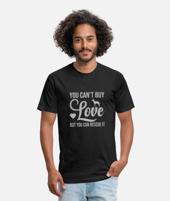 Young T-Shirts - You can t buy love but you can rescue it - Unisex Poly Cotton T-Shirt black
