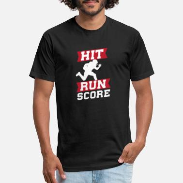 Hit Run Score Sporty Gift Idea T-Shirt - Unisex Poly Cotton T-Shirt