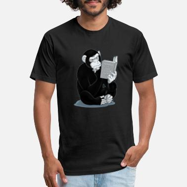 Chimp Origin of Species - Unisex Poly Cotton T-Shirt