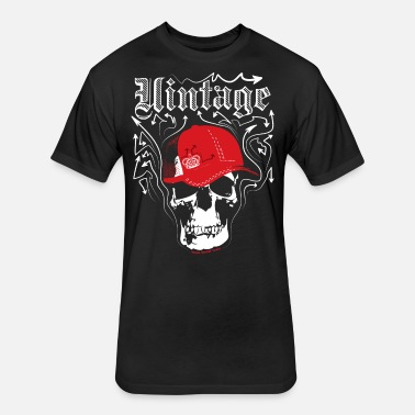 1b48827b034 Vintage Designer s Graffiti Skull Cap Men s Premium T-Shirt ...
