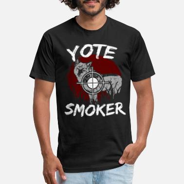 Smoker Coyote Hunting Yote Smoker Predator Hunt Fun Gift - Unisex Poly Cotton T-Shirt