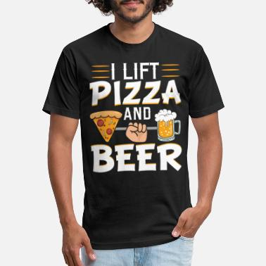 Chill I Lift Pizza Beer Funny Sarcastic Irony Lazy Gift - Unisex Poly Cotton T-Shirt