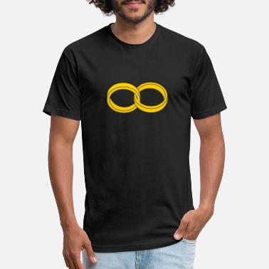 Infinite wedding rings - like a symbol of infinity - Unisex Poly Cotton T-Shirt