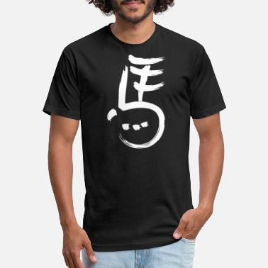 Chinese Symbols Chinese Symbol - Fitted Cotton/Poly T-Shirt by Next Level