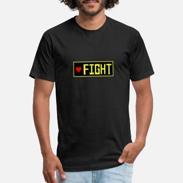 Determination Undertale - FIGHT - Unisex Poly Cotton T-Shirt