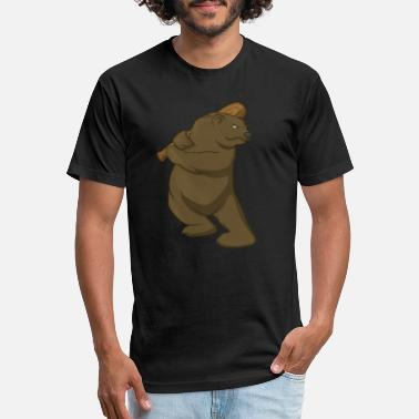 Browning Baseball Grizzly Bear Brown Bear Baseball Batter Gift - Unisex Poly Cotton T-Shirt