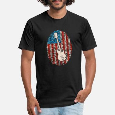 Amplifier Bass Guitar Player US American Flag Gift I DNA - Unisex Poly Cotton T-Shirt