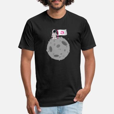 Uniswap Token Moon Flag - UNI Crypto Hodler - Unisex Poly Cotton T-Shirt