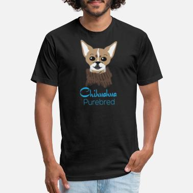 Purebred Dog chihuahua purebred gift idea present dog dogs - Unisex Poly Cotton T-Shirt