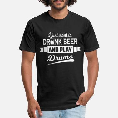 ffc6d659 Beer Sayings Drums And Beer Lovers Funny Saying - Unisex Poly Cotton T-Shirt