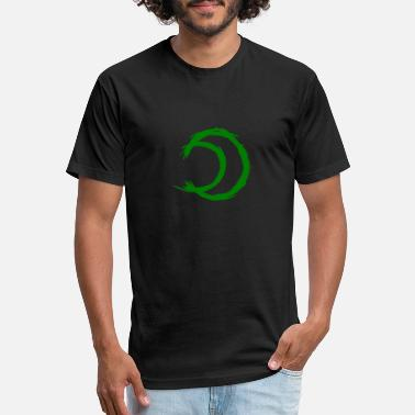 Alchemy Symbol Moon (Silver) Green - Unisex Poly Cotton T-Shirt