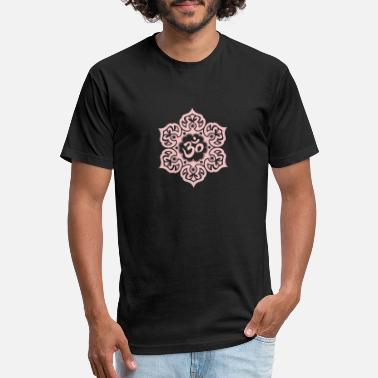 Himalaya Pink Lotus Flower Yoga Om - Unisex Poly Cotton T-Shirt