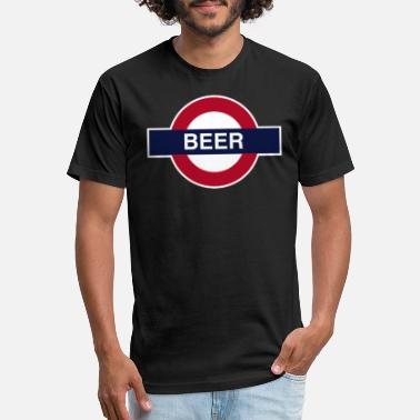 London Underground Beer For London Tee - BFL Underground - Fitted Cotton/Poly T-Shirt by Next Level