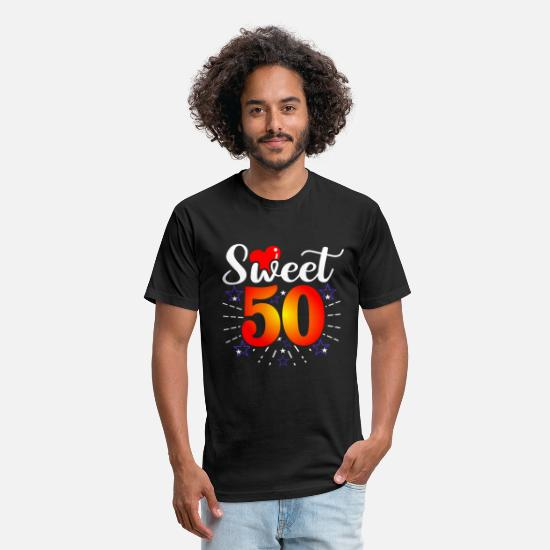Gift Idea T-Shirts - 50. Birthday - Unisex Poly Cotton T-Shirt black