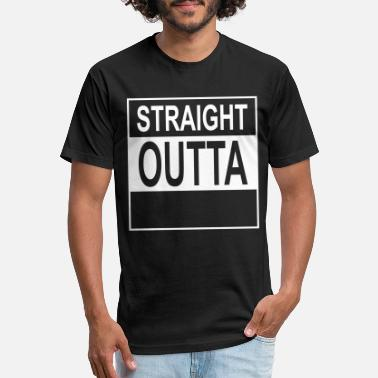 Straight Outta Straight Outta Wherever - Unisex Poly Cotton T-Shirt