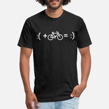 Bicycle Bicycle Happyness Equation Smile Cycling Bike Idea - Unisex Poly Cotton T-Shirt