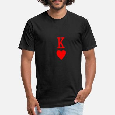 Hearts King Of Hearts - Unisex Poly Cotton T-Shirt