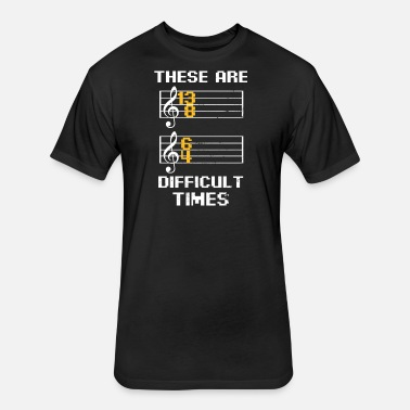 2f30ec921dd Classical Music Pun These Are Difficult Times Gift Baseball T-Shirt -  white charcoal