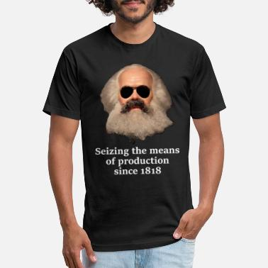 Marx Seizing the means of production Karl Marx - Unisex Poly Cotton T-Shirt