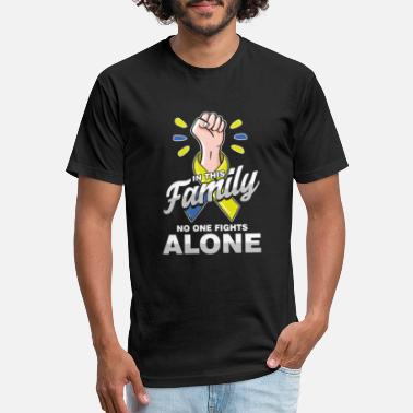 Family Awareness Down Syndrome Awareness In This Family No One - Unisex Poly Cotton T-Shirt