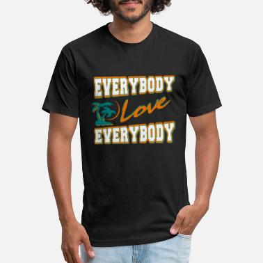 Flint Tropics everybody love everybody - Unisex Poly Cotton T-Shirt