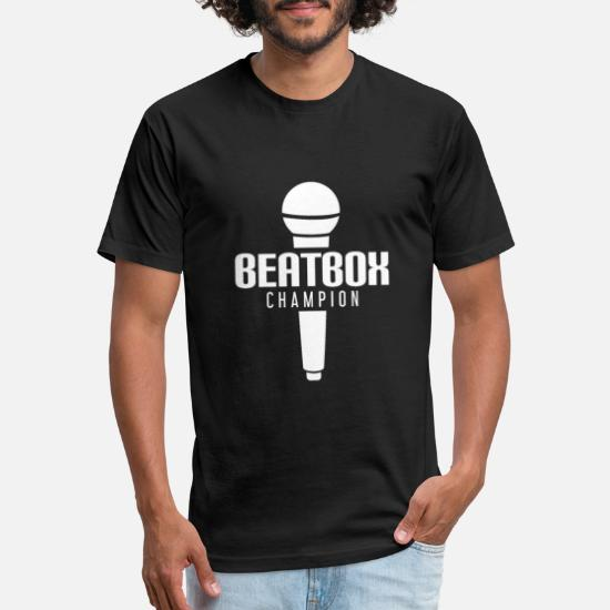 Beat Box Champion With Microphone Unisex Poly Cotton T-Shirt