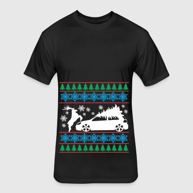 MK6 GTI Ugly Christmas Sweater - Fitted Cotton/Poly T-Shirt by Next Level