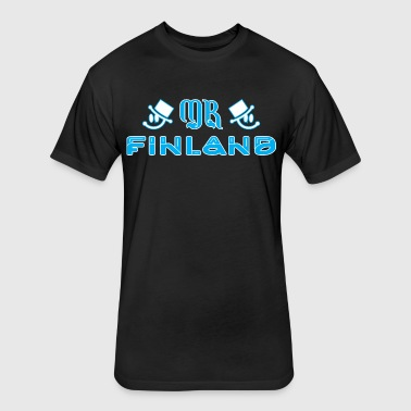 Mr Finland - Fitted Cotton/Poly T-Shirt by Next Level