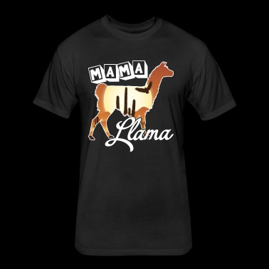 Llama Tee Shirt - Fitted Cotton/Poly T-Shirt by Next Level