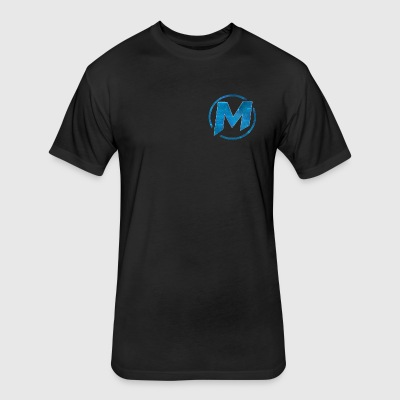 m logo design - Fitted Cotton/Poly T-Shirt by Next Level