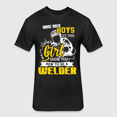 How To Be A Welder T-Shirts - Fitted Cotton/Poly T-Shirt by Next Level