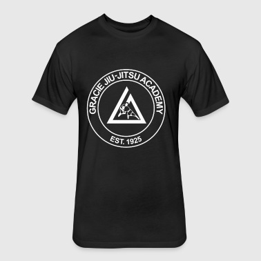 gracie jiu jitsu academy - Fitted Cotton/Poly T-Shirt by Next Level