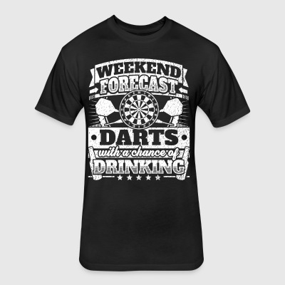 Weekend Forecast Darts Drinking Tee - Fitted Cotton/Poly T-Shirt by Next Level