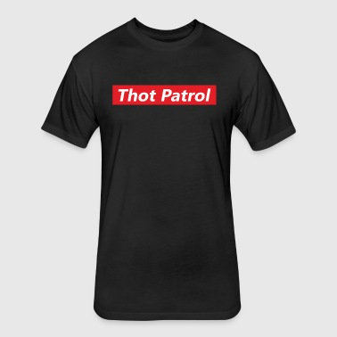 Thot Patrol - Fitted Cotton/Poly T-Shirt by Next Level