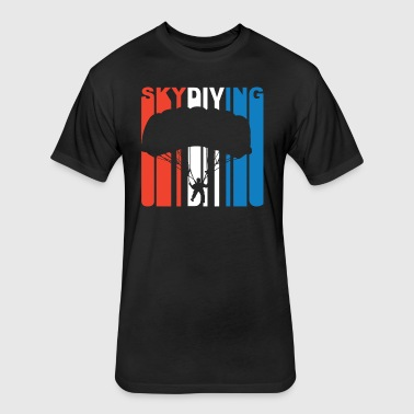Red White And Blue Skydiving - Fitted Cotton/Poly T-Shirt by Next Level