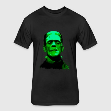 Frankenstein Monster Artwork - Fitted Cotton/Poly T-Shirt by Next Level