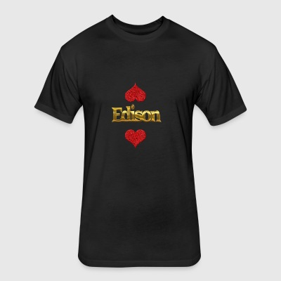 Edison - Fitted Cotton/Poly T-Shirt by Next Level