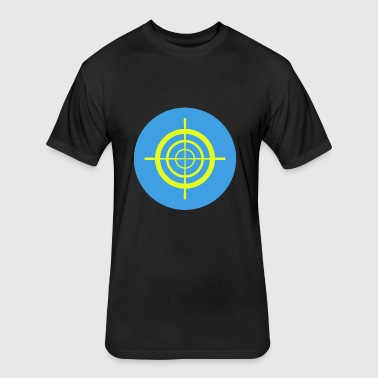 Target Symbol - Fitted Cotton/Poly T-Shirt by Next Level