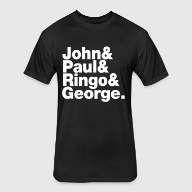 JOHN PAUL RINGO GEORGE - Fitted Cotton/Poly T-Shirt by Next Level