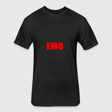 EMO - Fitted Cotton/Poly T-Shirt by Next Level