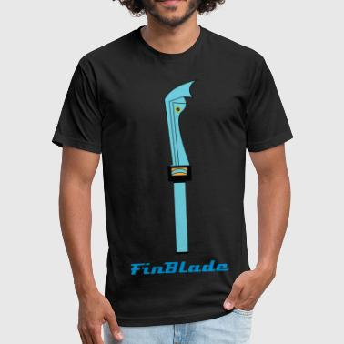 FinBlade - Fitted Cotton/Poly T-Shirt by Next Level