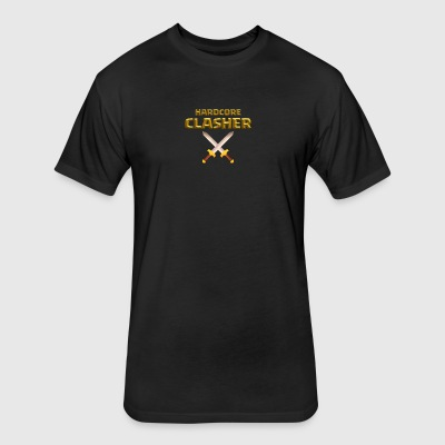 Hardcore Clasher - Fitted Cotton/Poly T-Shirt by Next Level