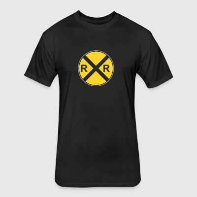 Road_sign_R_x_R - Fitted Cotton/Poly T-Shirt by Next Level