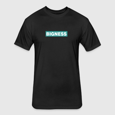 BIGNESS Turquoise - Fitted Cotton/Poly T-Shirt by Next Level