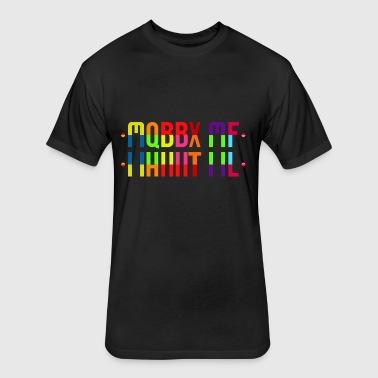MARRY ME HIDDEN MESSAGE COLORFUL - Fitted Cotton/Poly T-Shirt by Next Level