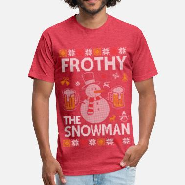 Frothy Frothy The Snowman Xmas Design Sweater Fitted Cotton Poly T Shirt By