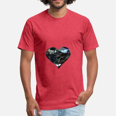 Diamant Diamant Heart - Fitted Cotton/Poly T-Shirt by Next Level