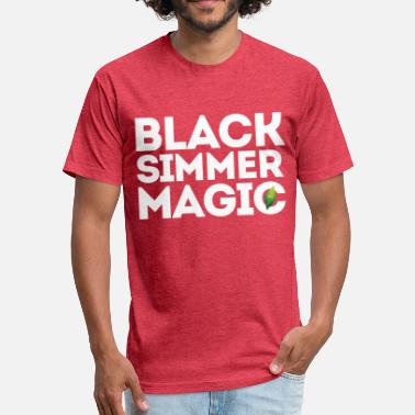 Simmer Black Simmer Magic #1 - Fitted Cotton/Poly T-Shirt by Next Level